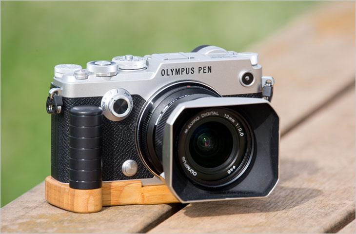 写真家 礒村浩一さん olympus pen f専用グリップ付きカメラベース