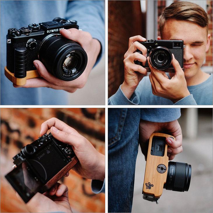グリップ付きカメラベース使用例