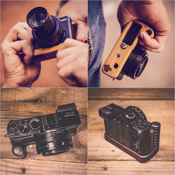Panasonic LX100専用グリップ付きカメラベース使用例