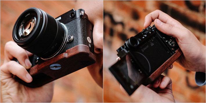 OLYMPUS PEN-F専用グリップ付きカメラベース使用例