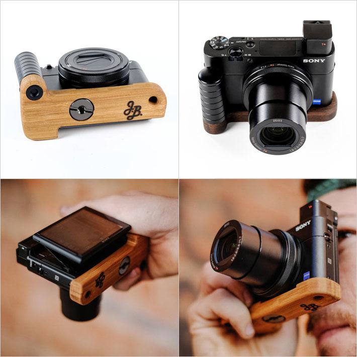 Sony RX100専用グリップ付きカメラベース使用例