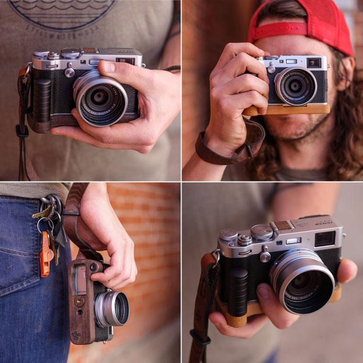 FUJIFILM X100F専用グリップ付きカメラベース使用例