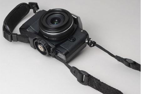 カメラストラップ装着例