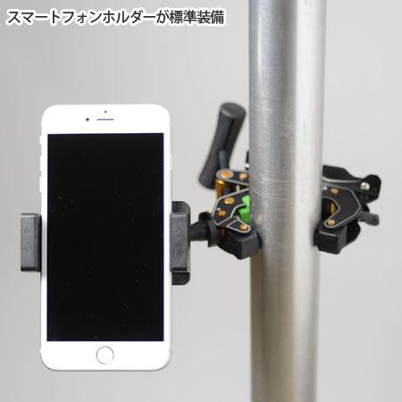 T1クランプポッド+・スマートフォン装着使用例