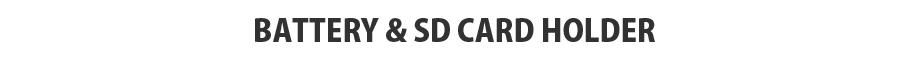 バッテリー&SDカードホルダー