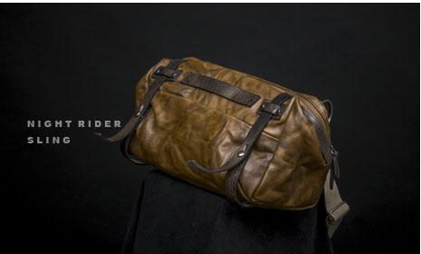 ナイトライダーレザースリングバッグ